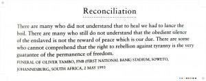 Nelson Mandela on reconciliation