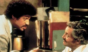 Still of Ron Glass and Hal Linden in Barney Miller (1974)