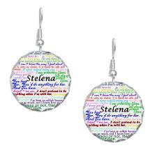 Stelena Quotes Earring Circle Charm for