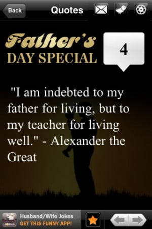 Special Father's Day Quotes iPhone App & Review