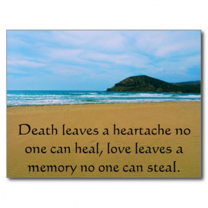 Sympathy quote post cards
