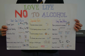 Glimpse Into A Classroom: Grade 5 – Alcohol Awareness Posters