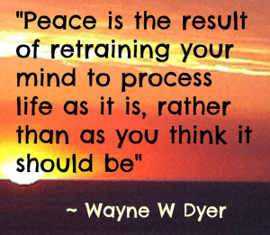 Achieve Self Confidence Quotes Peace Is the result of retraining your ...