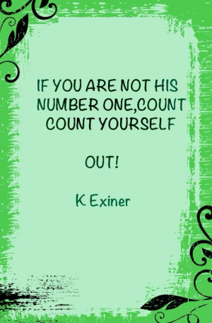 You deserve to be number one...