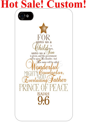 Isaiah 9:6 on christmas tree bible christian quote verses hardy ...
