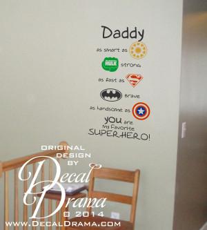 ... Brave, as Handsome as CAPTAIN AMERICA SUPERHERO! Vinyl Wall Decal