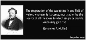... rather be the source of all the ideas to which single or double vision