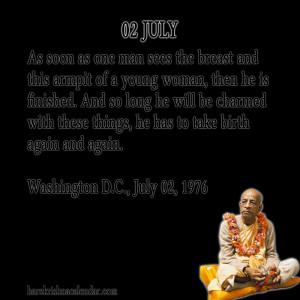 Srila Prabhupada Quotes For Month July 02