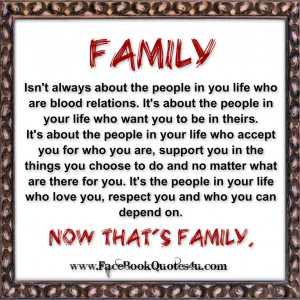 ... About The People In You Life Who Are Blood Relations - Family Quote