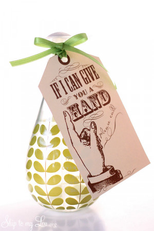 think these gorgeous bottles make this little teacher gift extra ...