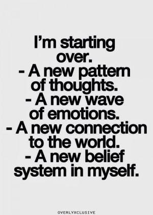 starting over.
