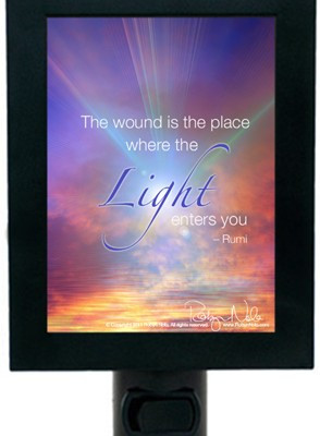 "... where the Light enters you."" Rumi Inspirational Quote Night Light"