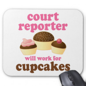 Funny Court Reporter Mousemat