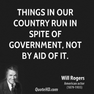 Will Rogers Government Quotes