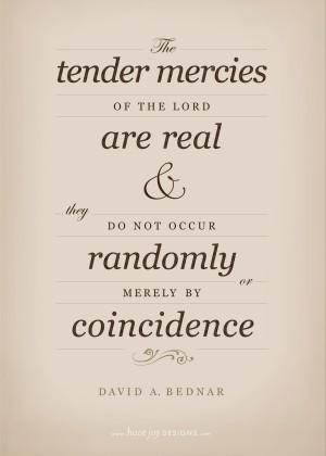 Tender Mercies of the Lord, David A. Bednar (free printable!)