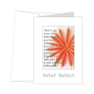 Beatrix Potter Peter Rabbit quotes • cards and prints to mat & frame ...