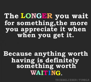 The Art of Being Patient