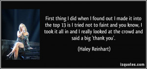 More Haley Reinhart Quotes