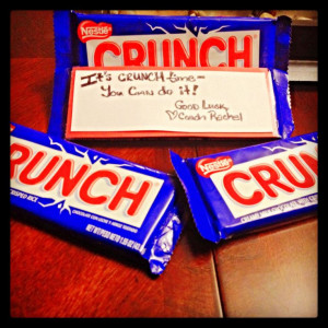Good Luck Goodies I put together for my group of team girls for their ...