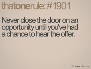 ... Until You've Had A Chance To Hear The Offer - Opportunity Quote