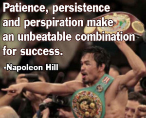 Patience, Persistence And Unbeatable