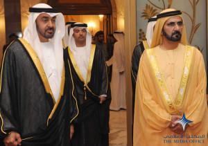 sheikh mohammed welcomes king mohammed vi of morocco