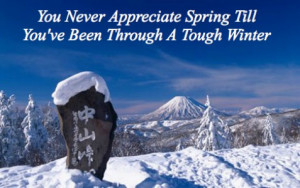 months of winter we have treasured the promise of spring we pray we ...