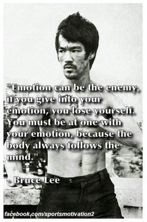 Great quote from martial arts master Bruce Lee.