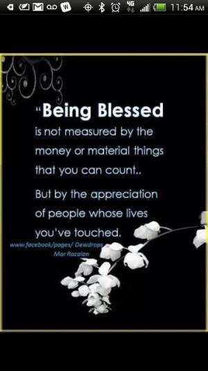 Im blessed..