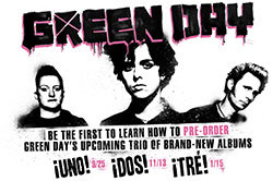 Tré Cool posts an update on Facebook about ¡Uno!, ¡Dos!, and ¡Tré ...