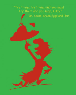 Green Eggs and Ham Quote SilhouetteSuess Quotes, Hams Quotes, Green ...