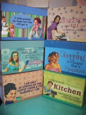 50s Housewives Quotes | RETRO HOUSEWIFE SASSY SATIRE RECIPE BOX FUNNY ...
