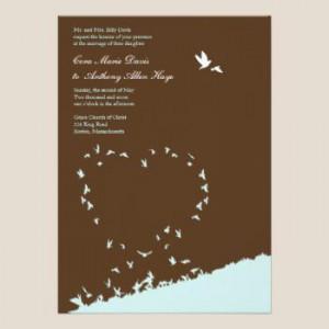 Blue Love Bird Wedding Invitation Blue Love Bird Wedding Invitation