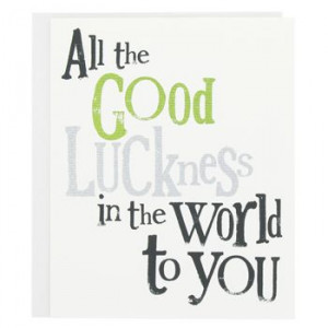 bright side good luck card