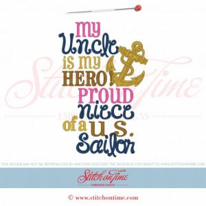 5853 Sayings : My Uncle Is My Hero 5x7