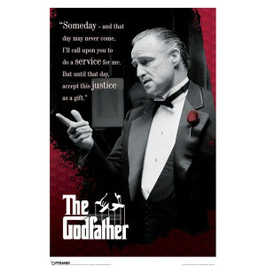 image of The Godfather Quote Poster