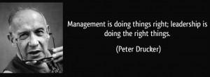 Peter Drucker: Management versus Leadership