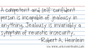 Thoughts on Jealousy