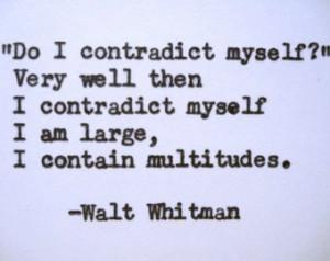 WALT WHITMAN Quote Typed on Typewri ter ...