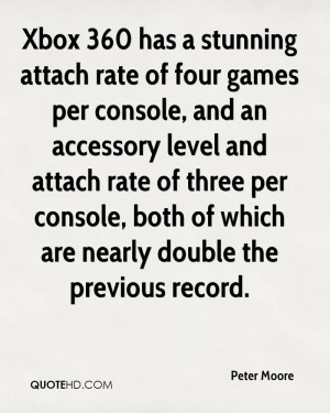 Xbox 360 has a stunning attach rate of four games per console, and an ...
