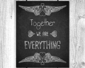 Chalkboard Art Love Quote Print