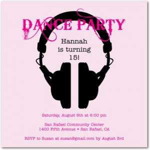 partyinvitationshq.comThese fun teen birthday party