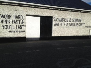 Image of the Day: Inspirational Quotes on Boxing Club Wall
