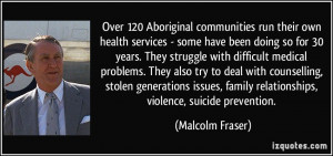 Over 120 Aboriginal communities run their own health services - some ...