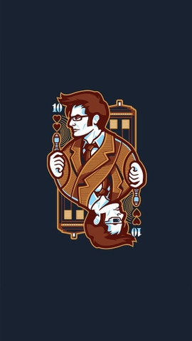 Doctor Who Card iPhone Hd Wallpaper
