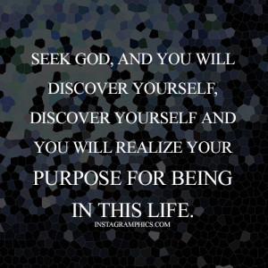 Seek God Quote Graphic