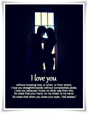 Love Saying and Quotes - I love you without knowing how
