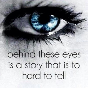 eyes tell a story quotes
