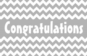 Simple Congratulations with Chevron Patter - Black & White Printer ...