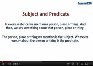 English Subject Quotes Subject and predicat .